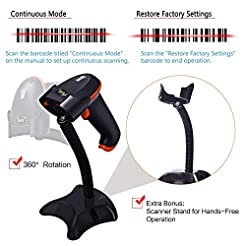 Tera Barcode Scanner Wireless Versatile ...