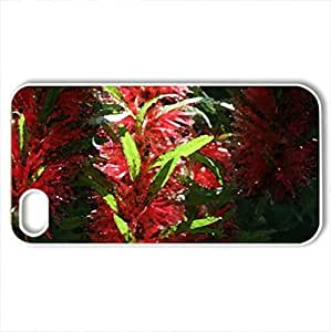 Exotic flowers at the pyramids 04 - Case Cover for iPhone 4 and 4s (Flowers Series, Watercolor style, White)