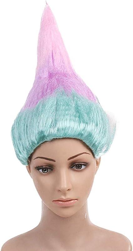 Peluca de Poppy Troll, para fiestas de Halloween, disfraces de ...