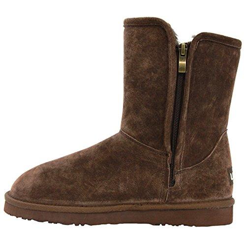 Lamo Womens Sellas Side Zip Chelsea Boot Chocolate cqNklfk