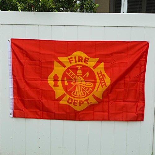 [3' x 5' Fire Dept Flag] (Firefighter Decorations)