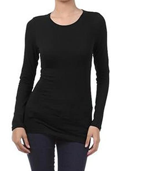 91ff9514be8dde Zenana Outfitters Women s Crew Neck Long Sleeve Basic T-Shirt at Amazon  Women s Clothing store  Fashion T Shirts