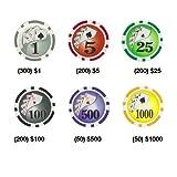 Brybelly 1000-Count Yin Yang 14 gram Poker Chip Set