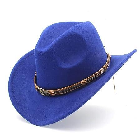 Deawecall Sombreros y Gorras Moda para Mujer Sombrero de Vaquero ...
