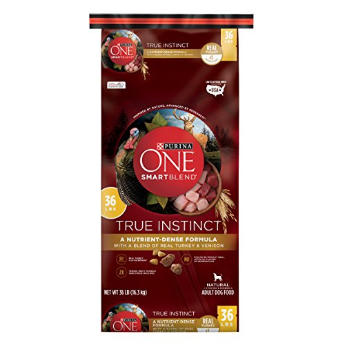 Purina ONE SmartBlend True Instinct Natural With Real Turkey & Venison Adult Dry Dog Food – 36 lb. Bag