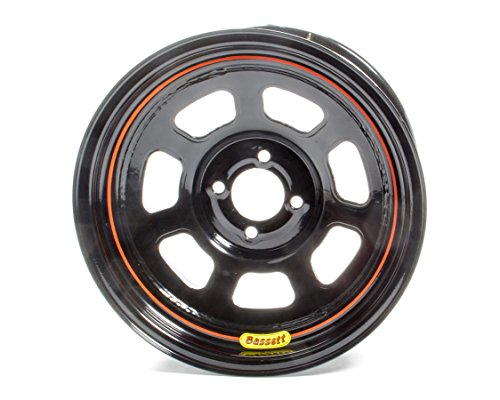 BASSETT 58SH5 Wheel 15x8 D-Hole 4x100 mm 5in BS Black