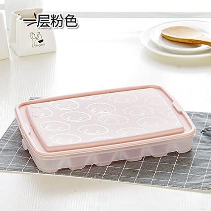 KXZDAS Cocina Dumpling congelado-Caja con Tapa Nevera congelados Frescos Dumplings Dumplings Rellenos con Cajas