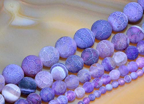 10 MM Colorful Matte Fire Crackle Agate Gemstones Round Beads 15