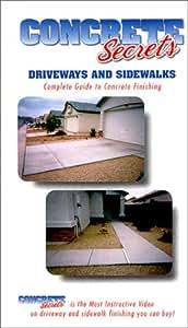 Concrete Secrets Driveways and Sidewalks [VHS]