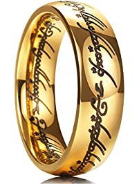 king will magic 7mm titanium ring gold - Gold Wedding Rings For Men
