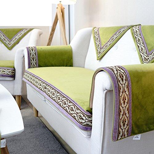 YYL Modern Simple Sofa cushions, Fabric Stylish Sofa towel Sofa cushion Non-slip mat-A 90x90cm(35x35inch) by YYL