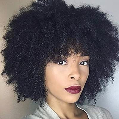 Afro Kinky Curly Human Hair Clip in Extensions Virgin Mongolian Human Hair Clip in Hair Extensions for Black Women 7pcs/set 120gram/set