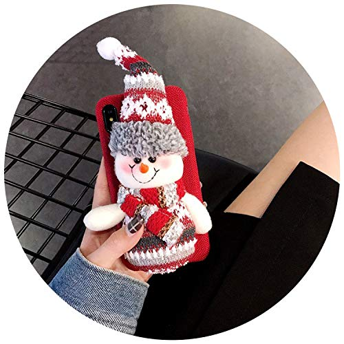 Luxury Christmas Case for iPhone X XS XR Max Cute Girly Santa Hats Toys Phone Cases for iPhone 6 6S 7 8 Plus Cover Gift,red,for iPhone 8 Plus]()