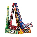 Fun Express - Inflate Hockey Sticks - Toys - Inflates - Inflatable Characters - 12 Pieces
