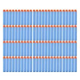 100 bullets 10 - Fivestar 100 Pcs 7.2cm, 2.84 Inch Soft Nerf Compatible Bullets for Nerf N-strike Elite Series Blasters and other Kid Toy Guns Fire Blaster (Sky Blue)