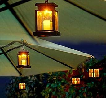 Jardín Luz Home hogar Outdoor Vela faroles Solar Paisaje Umbrella Tree Farol lámpara LED de luz de lámpara: Amazon.es: Iluminación