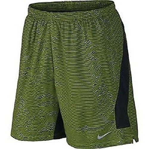 Nike 7'' Freedom Printed Men's Dri-FIT Running Shorts Volt Black Size Large 654281 371 by NIKE