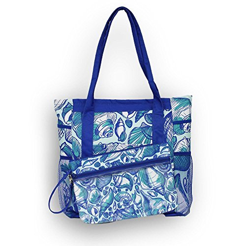 3 -in 1 Ultimate Tote Set High Tide Beach Tote with Lounge Cover (Tote Ultimate)