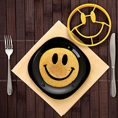 MKLOT Egg Mold Breakfast Mold Smile Shaped Pancakes Silicone Smiley Face Shape Bakeware Kitchen Cooking Tools for Kid (Smile - Shape Egg Face