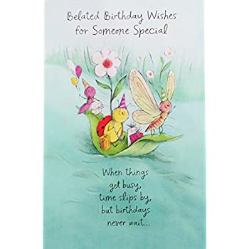 Amazon.: Belated Birthday Wishes for Someone Special Greeting