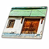 3dRose Alexis Photography - Architecture - Surreal old house, a door without entrance - 4 Inch Ceramic Tile (ct_273696_1)