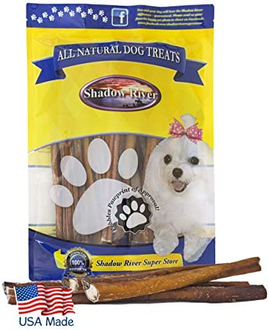 Shadow River 25 Pack 12 Inch Thick All Natural Beef Bully Sticks for Dogs