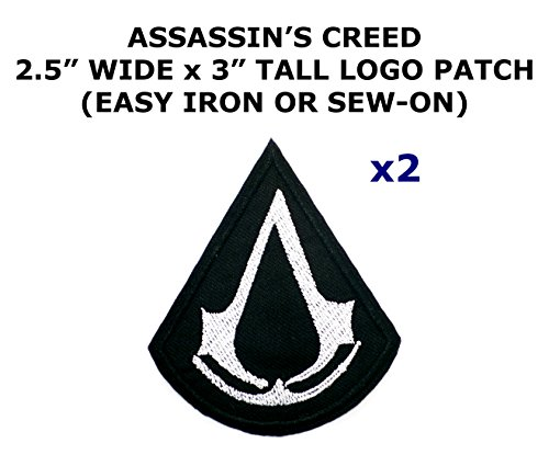 Assassin Creed Costume Diy (2 PCS Assassin's Creed Video Game Theme DIY Iron / Sew-on Decorative Applique Patches)