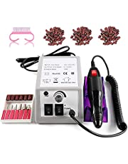 Elektrische Nagelschaar, TRUBUY Professionele Elektrische Nagelvijlen Nagelschaar Manicure Pedicure Kit met 1 Bit Kit, 150 Stuks Zandstrips en 1 Nagelborstel voor Acrylnagels Gelnagels