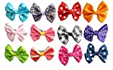 PET SHOW Bowknot Pet Dog French Barrette Hair Bows Clips Puppy Grooming Hair Accessories Pack of 10