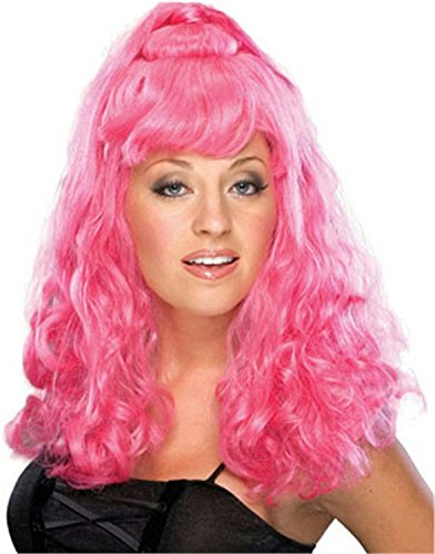 Girls Pop Fairy Costumes (Rubie's Costume Spicy Girl Adult Wig, Pink, One Size)