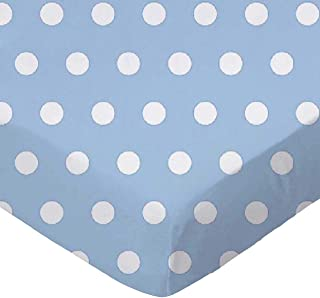 product image for SheetWorld Fitted Stroller Bassinet Sheet - Polka Dots Blue - Made In USA