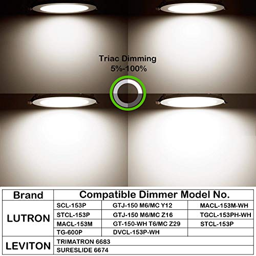 Hykolity 12W 4 Inch LED Slim Recessed Ceiling Light, 720lm, CRI90, 4000K Neutral White, Low Profile Downlight with Juction Box Dimmable, ETL& Energy Star Listed by hykolity (Image #3)