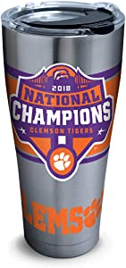 Celebrate the Clemson Tigers winning the 2018 NCAA National Championship!Show off your team spirit with this stainless steel tumbler.