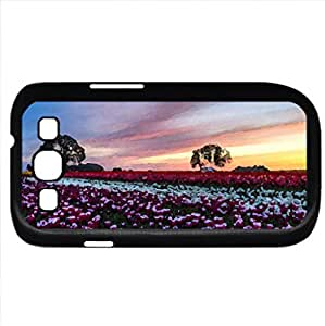 Tulips in Sunset (Flowers Series) Watercolor style - Case Cover For Samsung Galaxy S3 i9300 (Black)