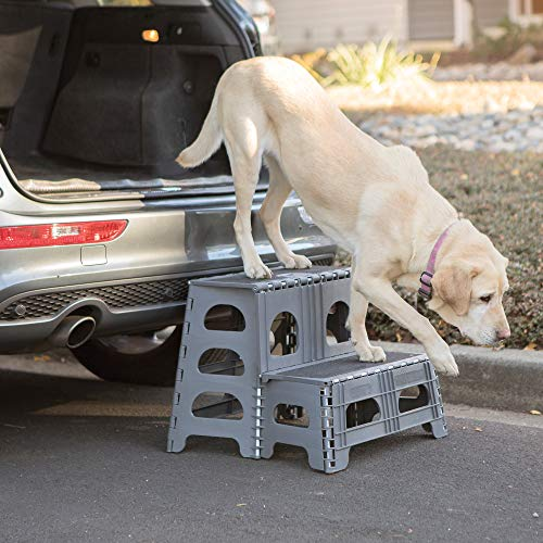 Petstep Gray Folding 2 Step Dog Assist