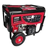 Smarter Tools ST-GP7500EB Portable Gasoline Generator with Electric Start and Battery, 7500-watt