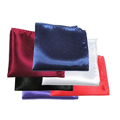 Tinksky 6pcs Mens Suit Pocket Squares Wedding Handkerchiefs, gift for men by TINKSKY