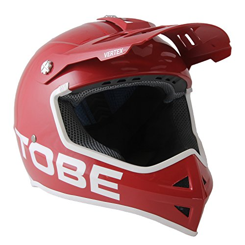 TOBE Outerwear Vertex Helmet - (Chili Pepper, Medium), Exceptionally Light (920g) Unisex Helmet with Research-Proven Safety Developed for Snowmobiling Perfect for Any Off Road Sport