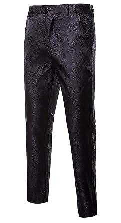 EKU FASHION - Pantalón de Traje - para Hombre Negro Negro ...