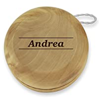 Dimension 9 Andrea Classic Wood Yoyo with Laser Engraving