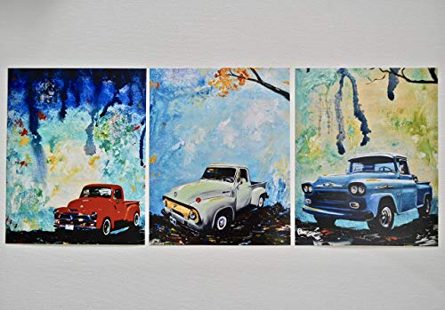 Classic pickup trucks, set of 3 8