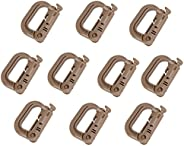 Molle Clip Tactical Multipurpose Small D-Ring Grimloc Locking Hanging Hook Tactical Link Snap Keychain Button