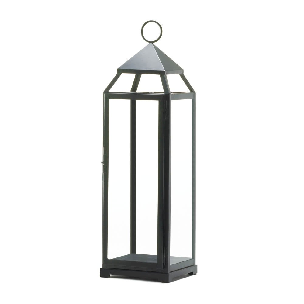 Zingz and Thingz Extra Tall Contemporary Lantern in Black Zingz & Thingz SS-KHD-10016910