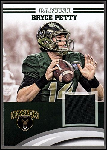 Bryce Petty player worn jersey patch football card (Baylor Bears) 2016 Panini Team Collection #BP-BU
