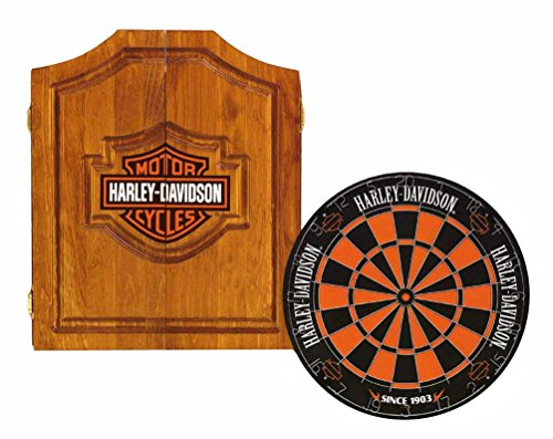 Harley-Davidson 61995 Bar and Shield Dartboard Cabinet Kit