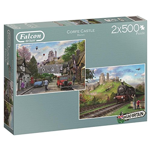 Jumbo Corfe Castle Jigsaw Puzzle (2 x 500) (1000 Piece) - Corfe Castle