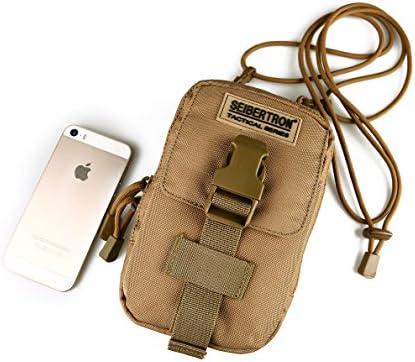 Seibertron Compact Molle EDC Pouch Utility Gadget Pouch Portefeuille Detachable Cordon Porte-6.3 Mobile Phone Purse Ceinture Sac de Taille