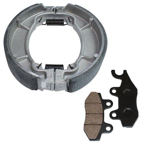 Caltric FRONT BRAKE PADS & REAR BRAKE SHOES Fits HONDA CMX250C CMX250C2 REBEL 250 1996-2004 NEW