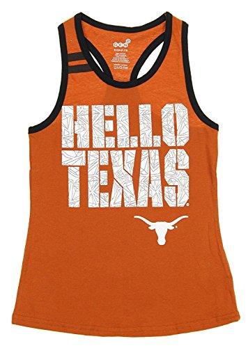 (Outerstuff Texas Longhorns NCAA Youth Girls Princess Cut Tank, Orange (Large (14-16)))