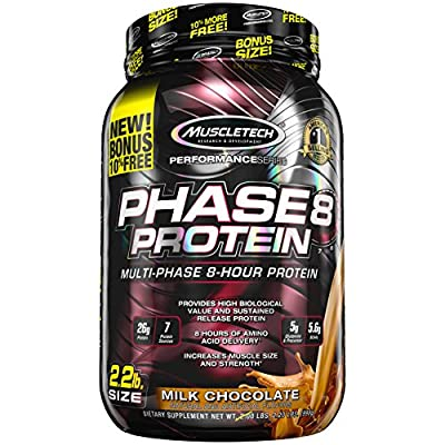 MuscleTech Phase8 Protein Powder, Sustained Release 8-Hour Protein Shake from Muscletech